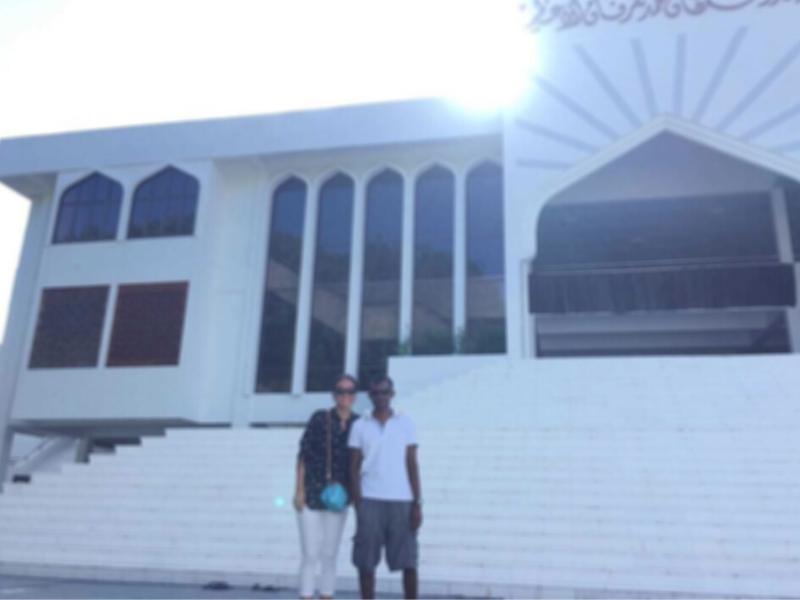 モルディブ、イスラミックセンターの前