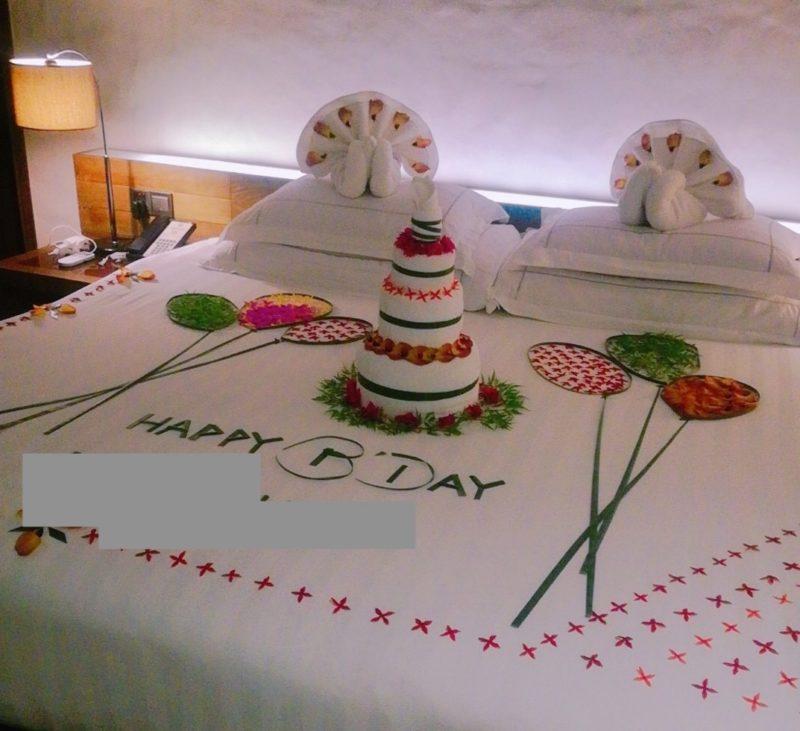 Hideaway beach resort bed decoration