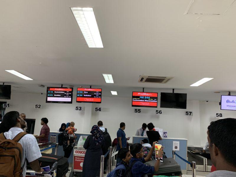 マーレ国内空港チェックインカウンター