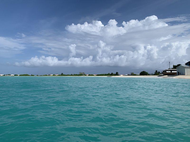 モルディブのローカル島、ラグーン