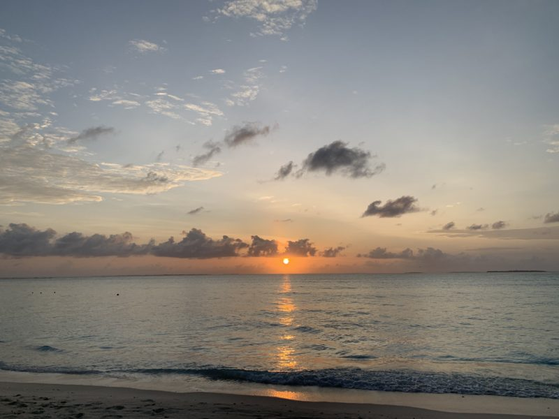 sunrise in Maldives