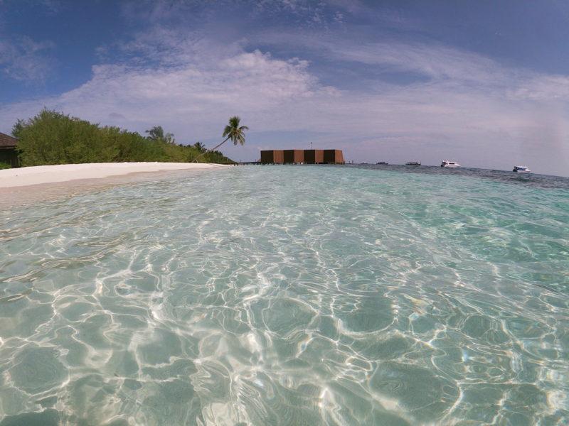 Clear lagoon in Maldives