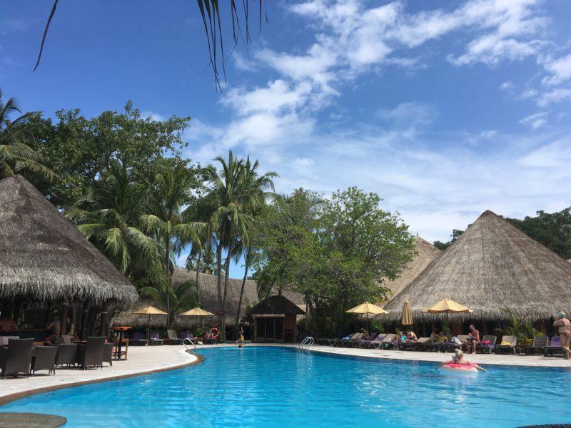Swimming pool in Kuredu island resort