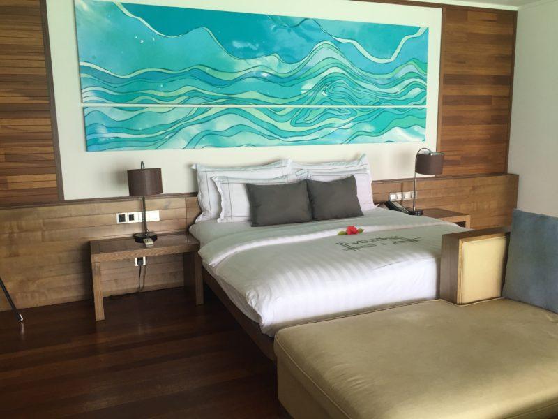 hideaway beach resort- water villa- bedroom