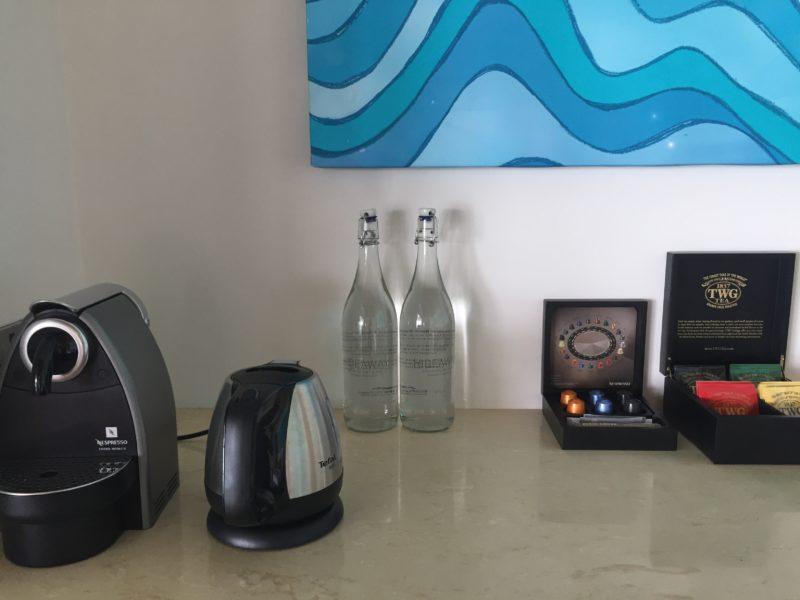 hideaway beach resort- coffee & tea in the room