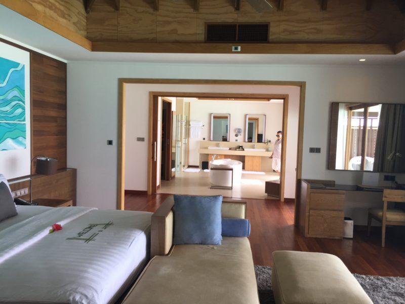 hideaway beach resort- water villa- view from bedroom