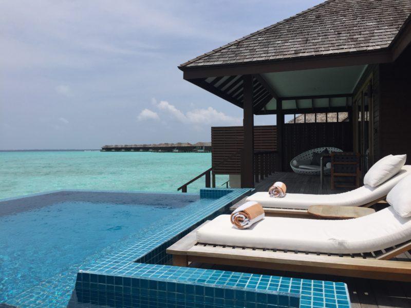 hideaway beach resort- water villa- balcony