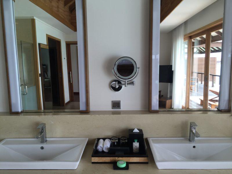 hideaway beach resort- water villa- wash basin