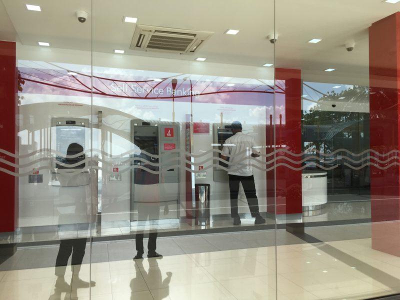 Maldives airport- ATM area