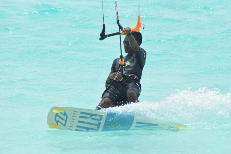 Kitesurfer in Maldives