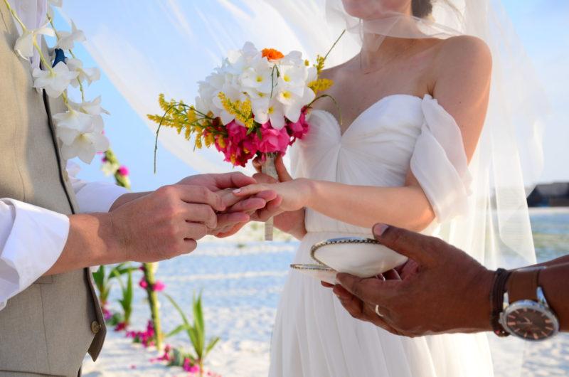 Beach wedding in Maldives