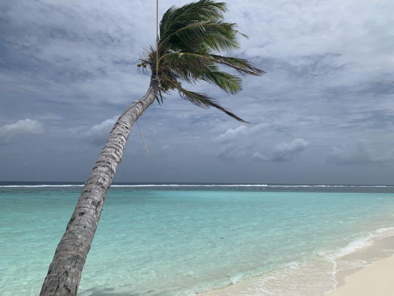 windy beach in Maldives