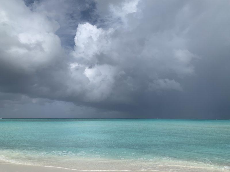 Rainy cloud in Maldives
