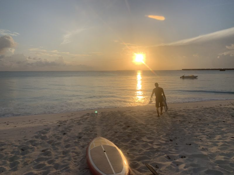 Sunrise SUP in Maldives