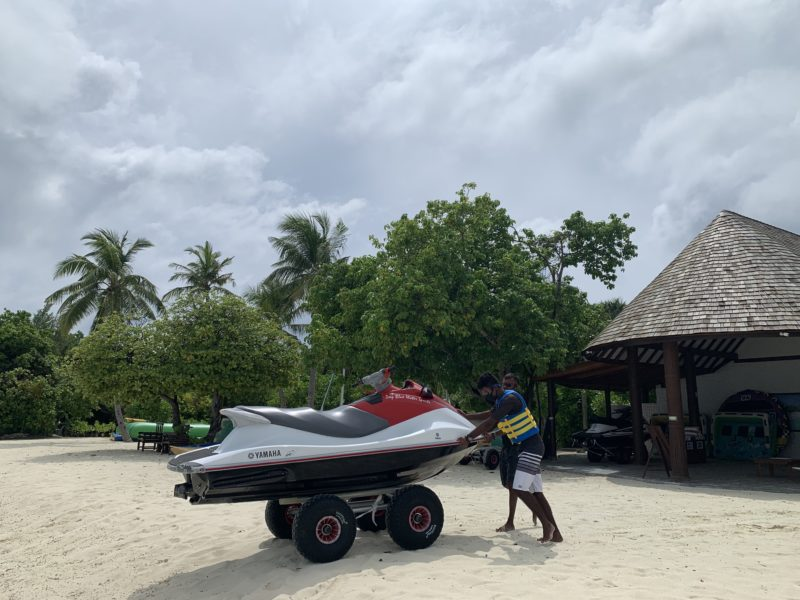 Water sports center in Maldives