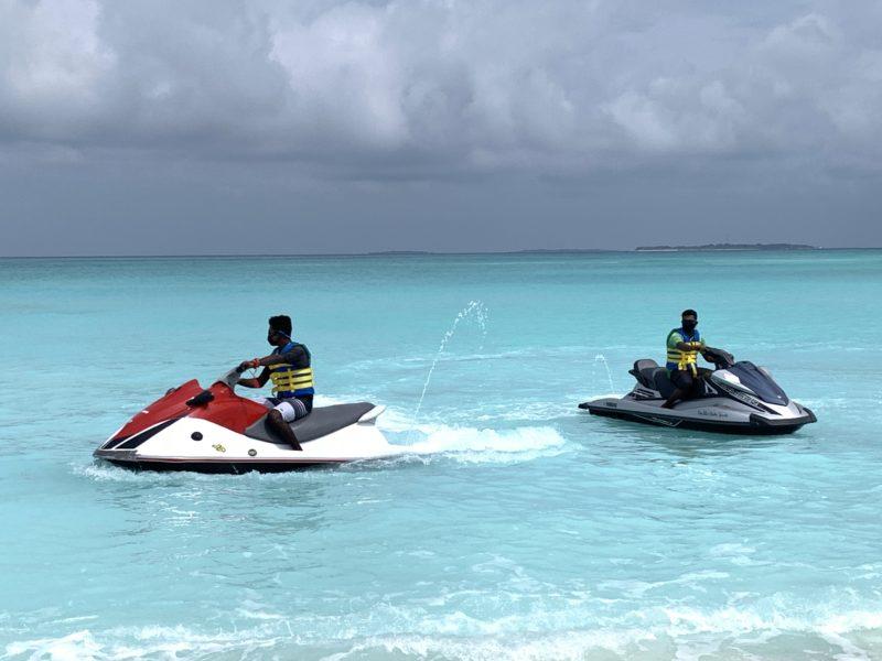Jetskiing in Maldives